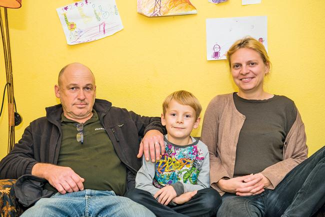 Kasimir mit seinen Eltern
