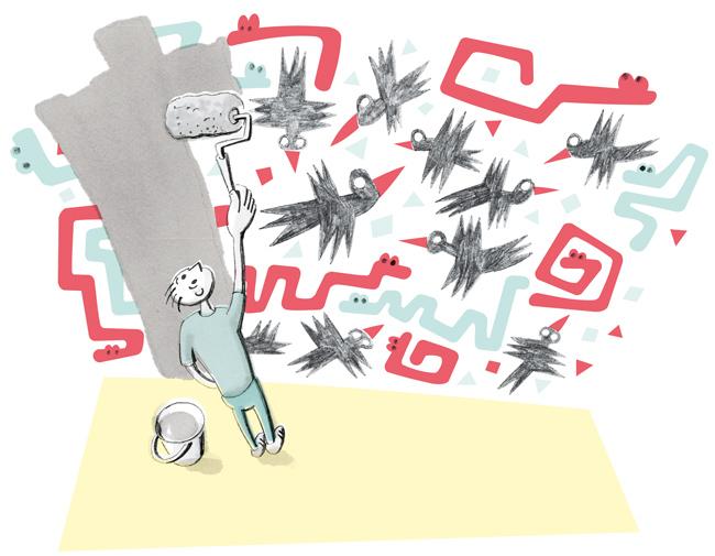 Illustration zum Thema Malern