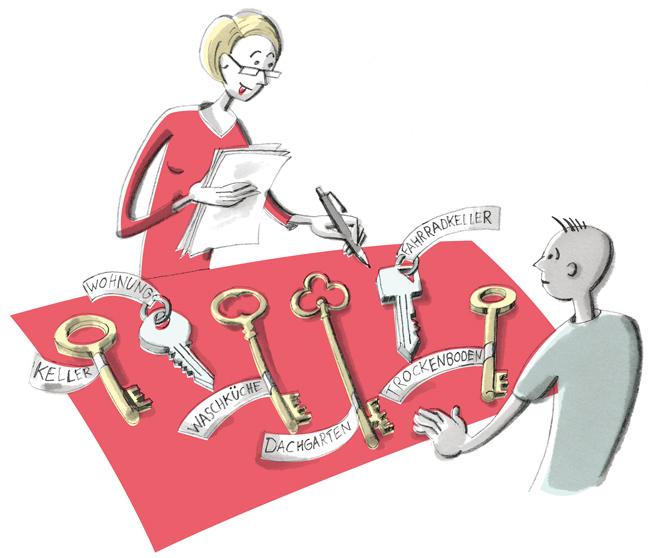 Illustration zur Schlüsselübergabe