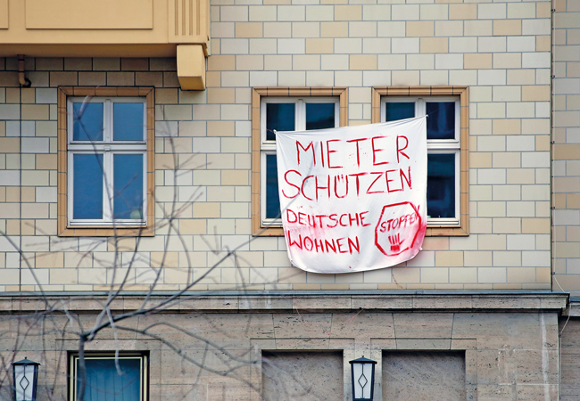 Protestplakat 'Mieter schützen'