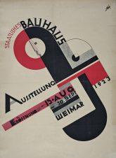 Plakat zur Bauhaus-Ausstellung in Weimar 1923