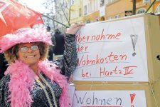 Protest gegen die Wohnkostenregelung
