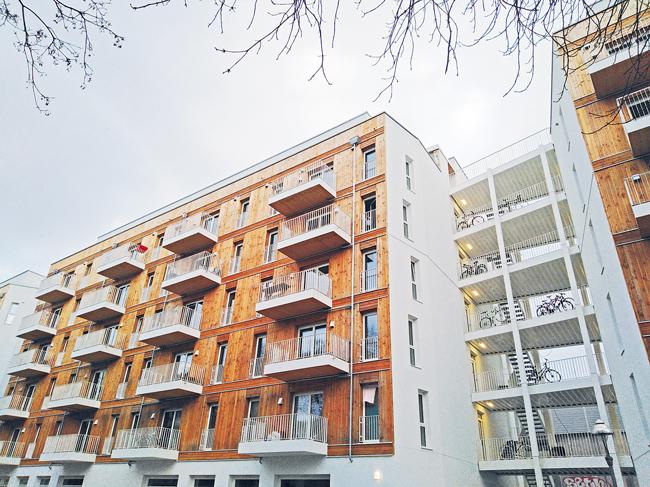 Das Holzhaus im Sprengelkiez bietet gesundes Wohnen auf 6600 Quadratmetern