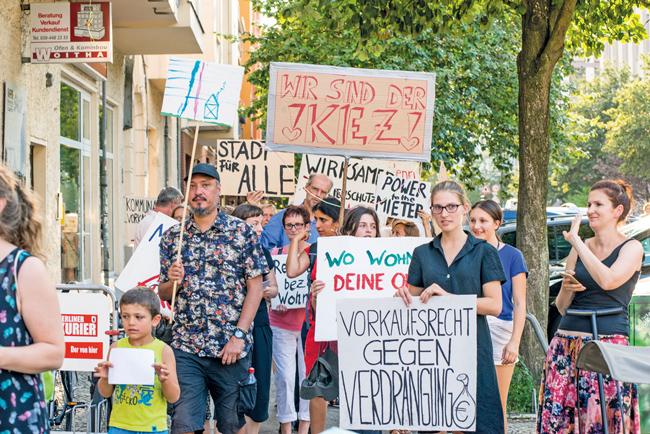 Demo für das kommunale Vorkaufsrecht