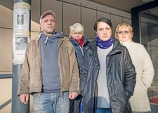 Aktivisten der Mieterinitiative Lobeckstraße