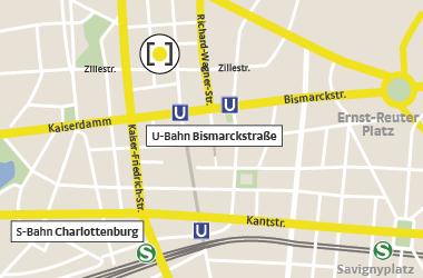 Karte Zillestraße