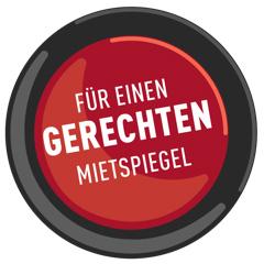 Button Für einen gerechten Mietspiegel
