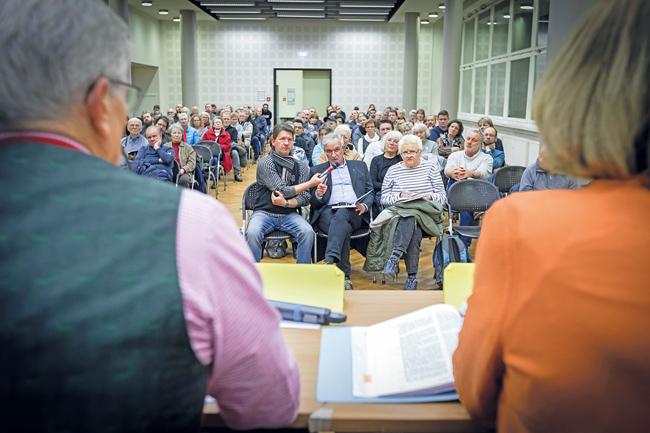Mieterversammlung in der Karl-Marx-Allee