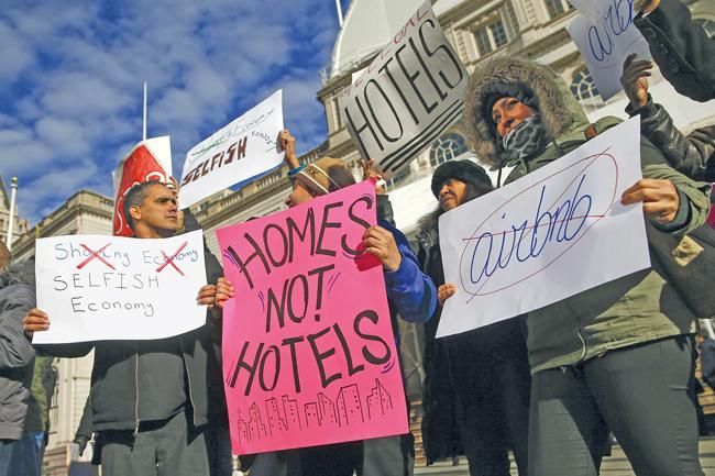Proteste genen Hotels und Airbnb in New York