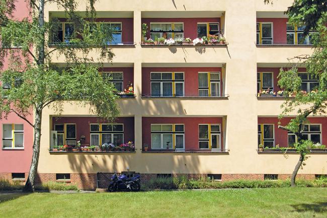 Balkone von Genossenschaftswohnungen