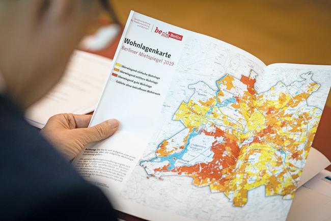 Blick auf die Wohnlagenkarte