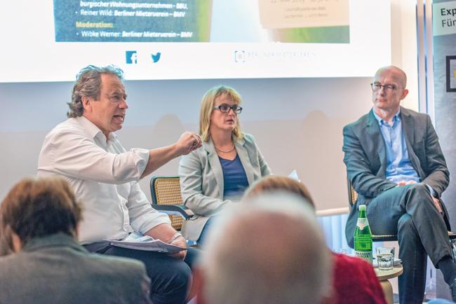 BMV-Geschäftsführung und und BBU-Sprecher Hilgenfeld beim Forum