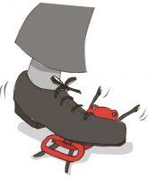 Illustration: Die mit Füßen getretene Mietpreisbremse