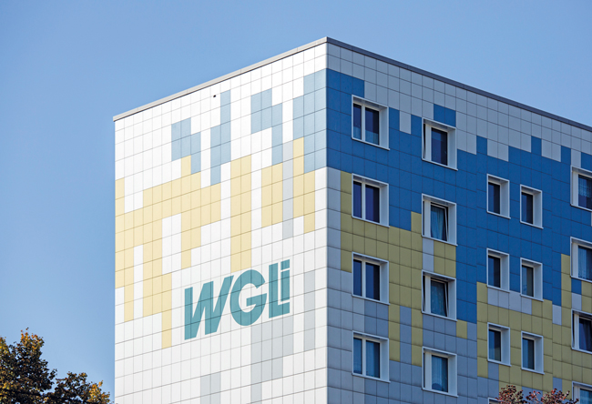 Hausfassade mit WGLi-Signet