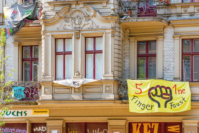 Ehemaliges Besetzerhaus in der Kohlfurter Straße