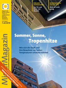 Titelseite MieterMagazin 7+8/2019
