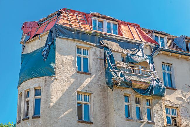 Das verfallene Gebäude in Lichterfelde