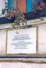 Gedenktafel am Vereinssitz des BMV-Vorgängers