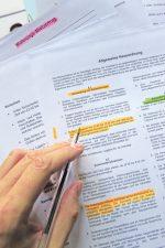 Hausordnung mit markierten Absätzen