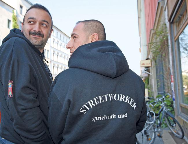 Streetworker des QM Zentrum Kreuzberg/Oranienstraße