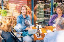 Coni Pfeiffer, Gabriela Burghardt und Josephine Gäbler vom Netzwerk 200 Häuser