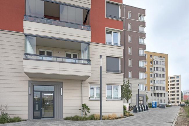 Co-Living-Gebäude im Gebiet Lehrter Straße