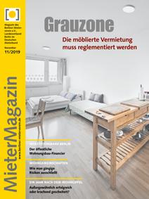 Titelseite MieterMagazin 11/2019