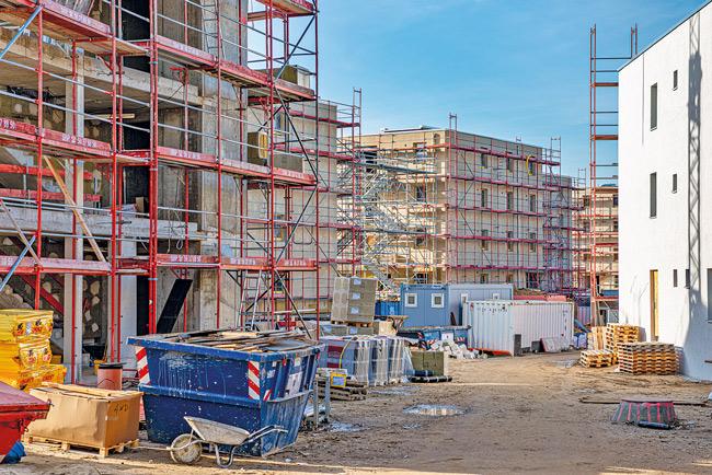 Neubau-Baustelle in Altglienicke