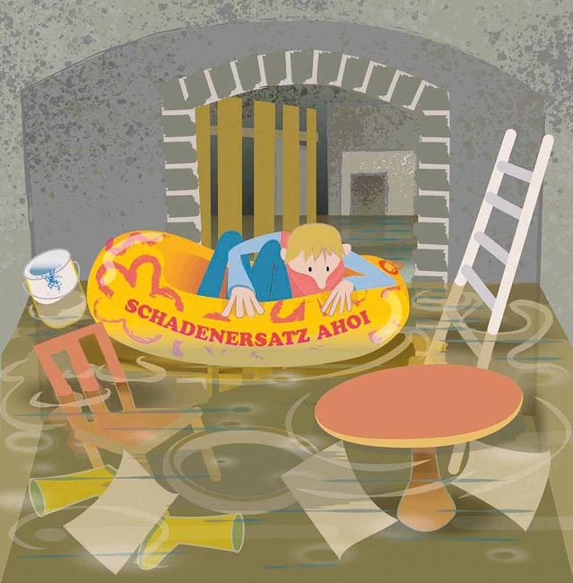 Illustration: Wasserschaden