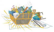 Illustration: Sperrmüllcontainer