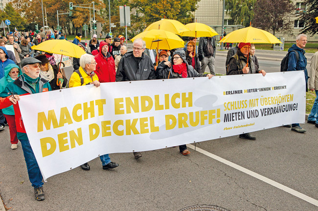 Demonstration für den Mietendeckel