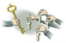 Illustration zum Schlüsseltausch