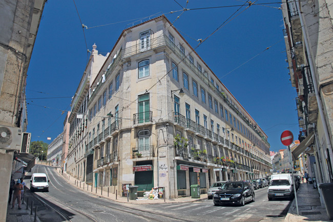 Eckhaus in Lissabon