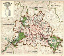 Übersichtsplan der Stadt Berlin nach dem Zusammenschluss von 1920
