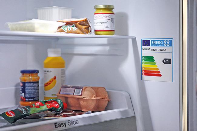Energielabel am Kühlschrank