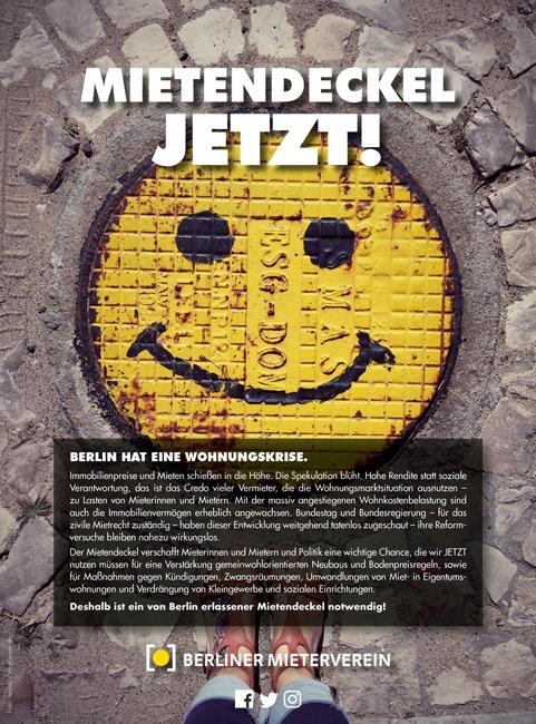 """Titelseite des MieterMagazin-Beilegers """"Mietendeckel jetzt!"""""""