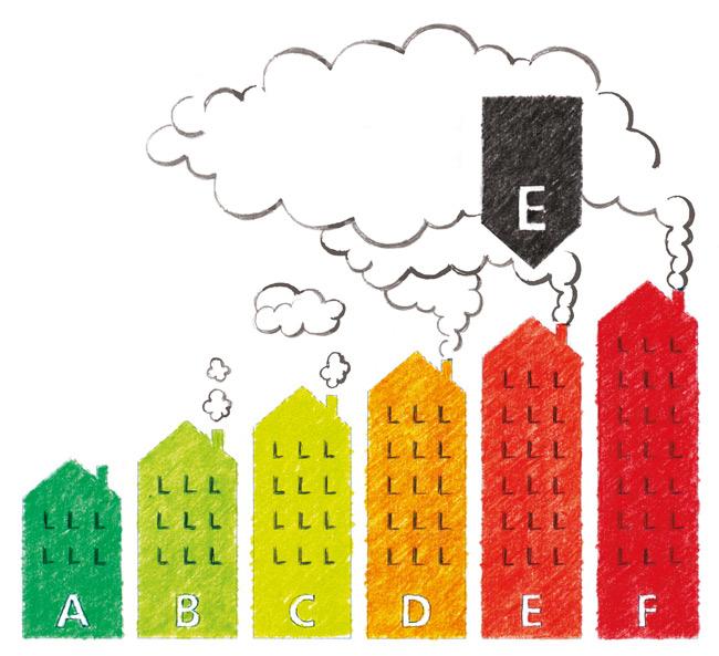 Grafik zu Energielabel für Wohngebäude