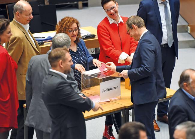 Stimmabgabe des Regierenden Bürgermeisters Michael Müller