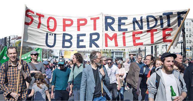 Protest gegen Mietenentwicklung im April 2019