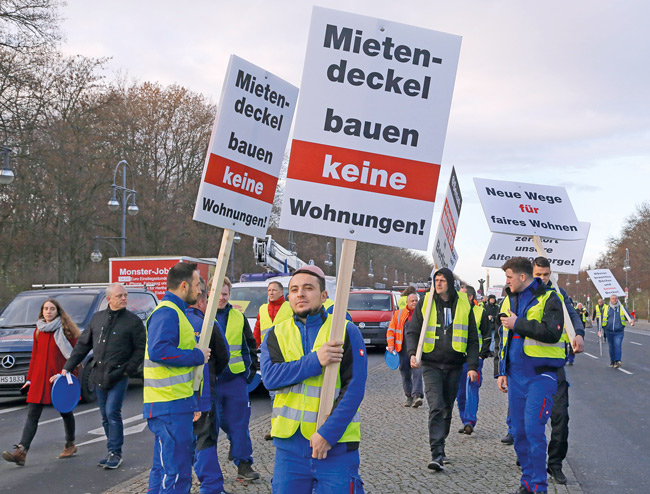 Demonstration der Berliner Bauwirtschaft am 9. Dezember 2019