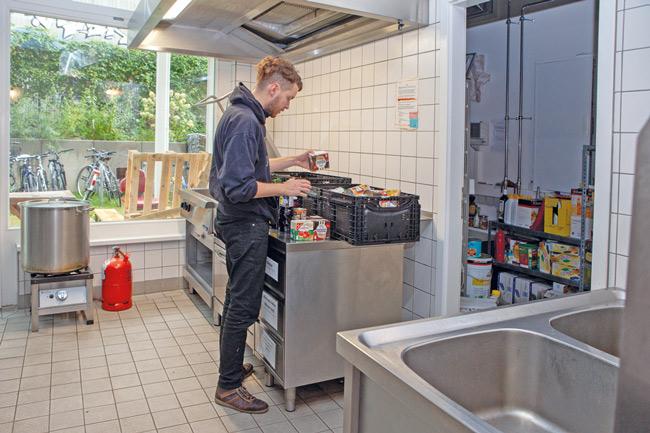 Kiezküche in der Obdachlosenhilfe