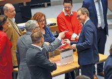 Stimmabgabe zum Mietendeckelgesetz