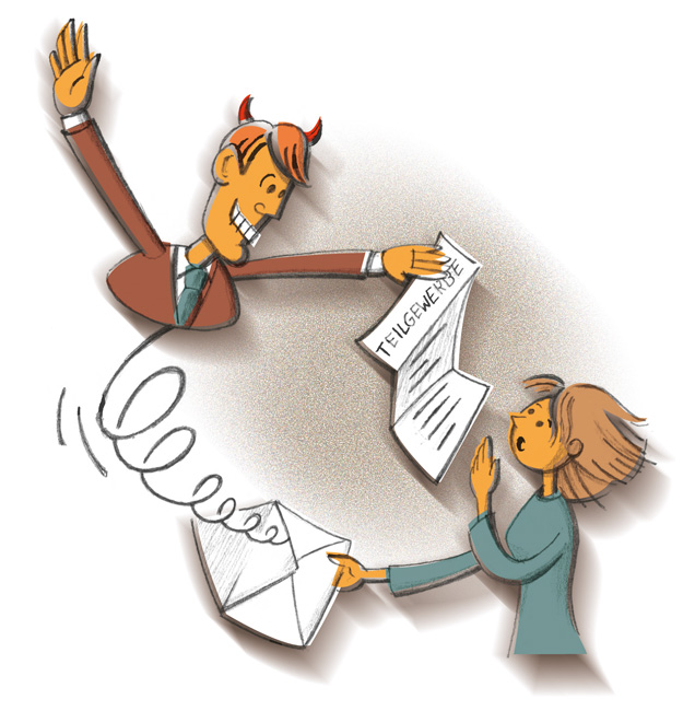 Illustration zu Teilgewerbevertrag