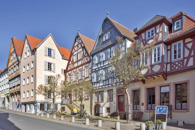 Fachwerkhauszeile in Aschaffenburg