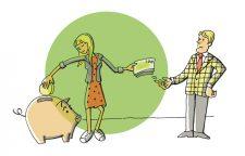 Illustration zum Zusrücklegen einbehaltener Mieten