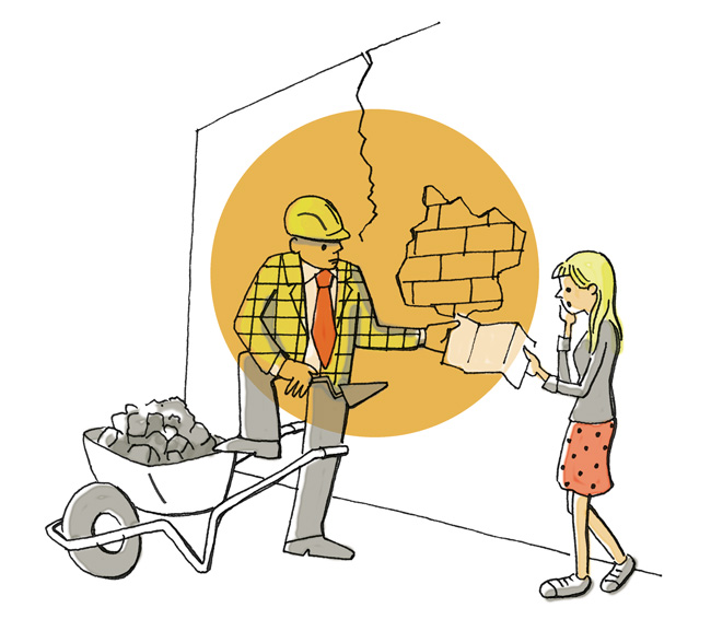 Illustration zur Wiederherstellung von Wohnraum