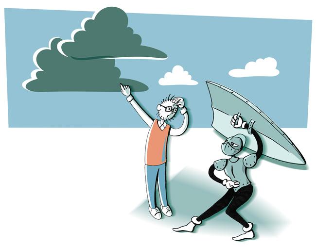 Illustration: Schutz vor düsteren Wolken