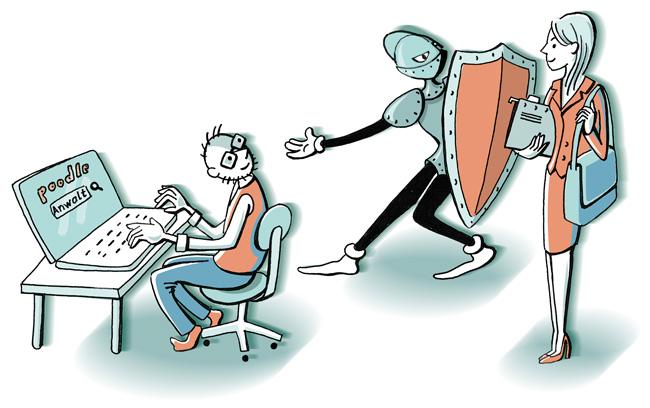 Illustration: Vermittlung eines Anwalts