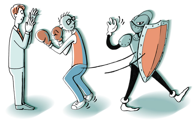 Illustration: Kein Rechtsschutz bei Tätlichkeiten gegen den Vermieter