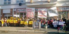Demonstration gegen Finanzierungsmissstände im Sozialen Wohnungsbau